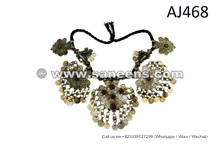 Traditional Afghan Nomad Choker Bellydance Homemade Tribal Necklace