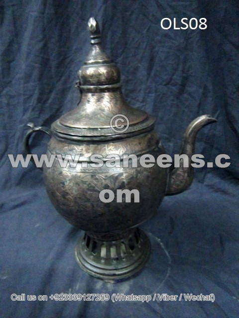 very old afghan pottery tribal artwork water warming samovar pot