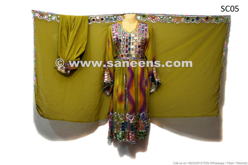 afghan wedding event handmade frock