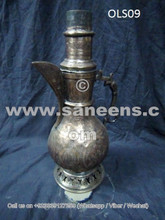 ancient afghan antique samovar, nomadic boho pottery, kuchi people ethnic pots
