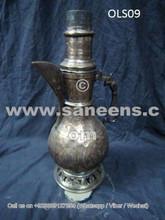 ancient afghan antique samovar, nomadic boho pottery, kuchi people ethnic pots