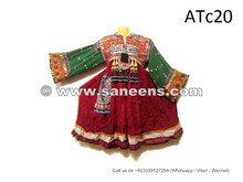 Genuine Kuchi Ethnic Costume Tribal Afghan Coins Dress With Tassels