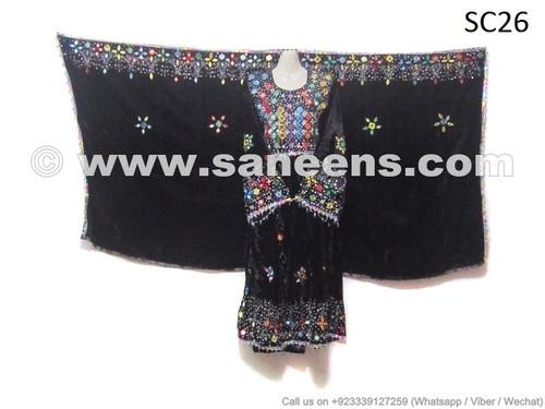 afghan velvet dress