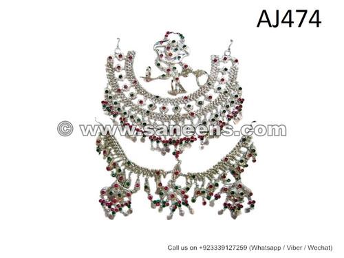 Afghan Nomad Bridal Jewellery Set Handmade Tribal Artwork Nikah