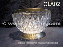 afghan tribal artwork crystal bowl