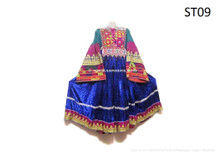 Kuchi Fashion Vintage Dress Afghan Nomad Women Long Frock Gypsy Ethnic Apparel
