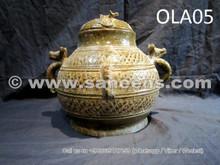 china artwork vase, ancient afghan culture antique pottery vase