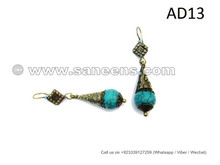 kuchi afghan wholesale jewelry earrings in turquoise stone