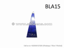 tribal artwork triangle shape lapis stone pendant