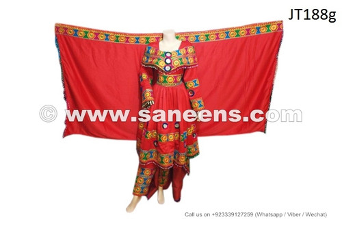 afghan dress in red color, afghan fashion long clothes gowns