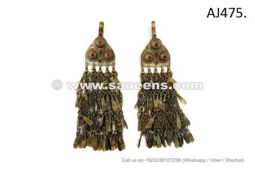 afghan jewelry, kuchi jewellery tassels pendants