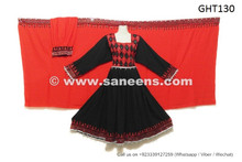 afghan dress in black and red color