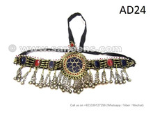 Beautiful Afghan Kuchi Headdress With Lapis And Coral Stones Wholesale Tribal Jewelry