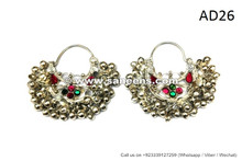 afghan earrings, handmade muslim persian earrings earplugs