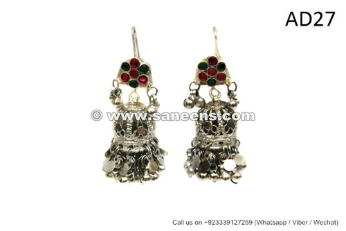 afghan kuchi earrings, tribal gypsy jumkey wholesale
