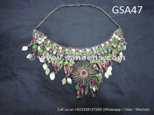 traditional afghan muslim silver necklaces
