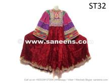 handmade kuchi afghan velvet frocks dresses