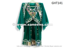 afghan muslim kids dress, handmade tribal frock for wedding event