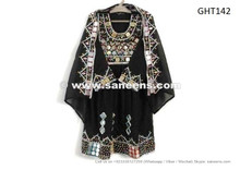 afghan fashion new dress in black color