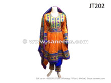afghan dress in orange color