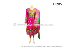 afghan dress in pink color