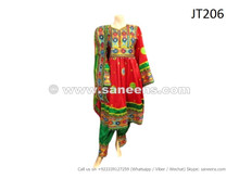 afghan dress in red color