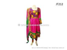 afghan dress in pink color