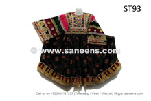 Kuchi Tribal Ethnic Dress Handmade Afghan Nomad Frock