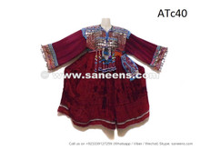 afghan kuchi ethnic dress with coins and beads work