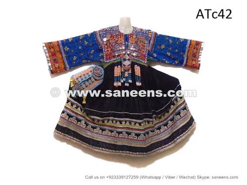 kuchi baloch black coins dress