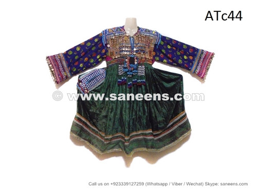 afghan kuchi coins frock