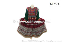 Baloch Fashion Vintage Dress With Tassels Kuchi Burgundy Color Frock