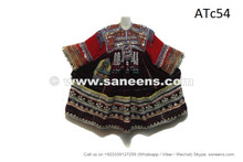 afghan coins dresses in maroon velvet