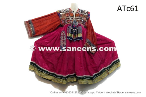 afghan kuchi dress with tassels