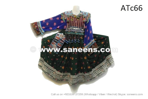 afghan kuchi coins clothes dress with embroidery work