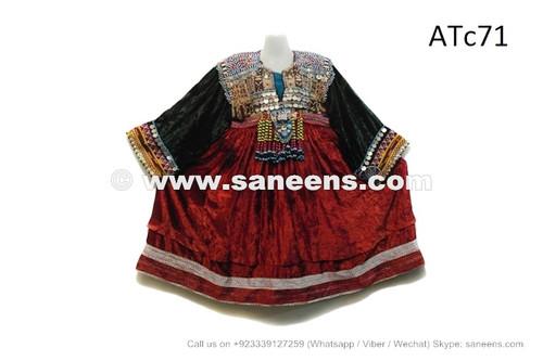 afghan kuchi coins dress in velvet fabric