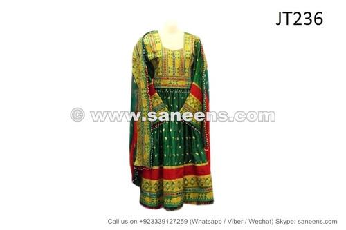 afghan muslim green color wedding dress