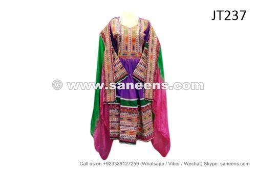 afghan dress in purple color
