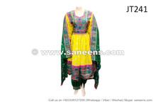 afghan muslim wedding dress in yellow color