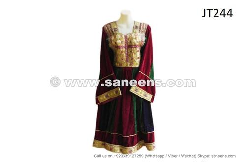 afghan muslim dress with yakhan embroidery work