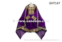 afghan dress in purple color