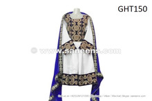 afghan dress in blue color