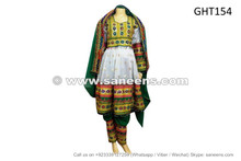 afghan muslim wedding clothing dress in white color