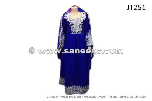 afghan pashtun brides blue dress