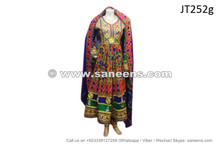 afghan dress multicolor choli fabric