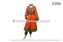 afghan brides orange dress for wedding event