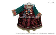 afghan kuchi vintage dress coins beads work