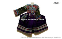 afghan kuchi violet color handmade dresses clothes frocks