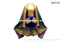 afghan pashtun persian dresses in blue color