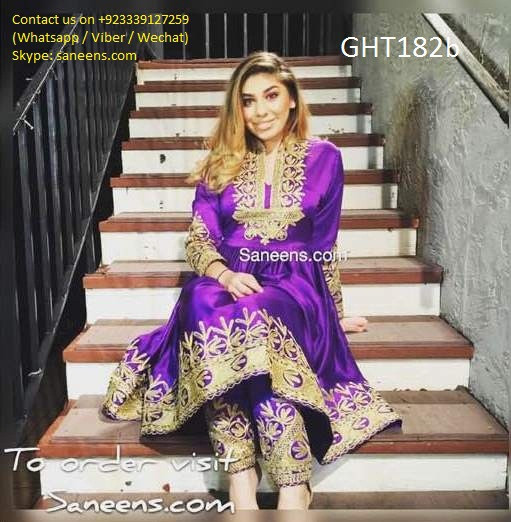 Afghan Wedding Gowns: Afghan Wedding Dress In Purple